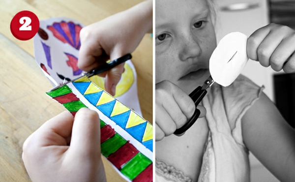 osterdeko mit kindern basteln papier schere ausschnieden