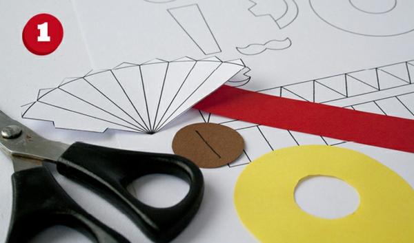 osterdeko mit kindern basteln papier schere materialien