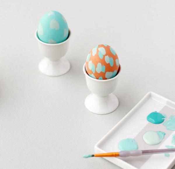 ostereier gestalten acrylfarben pastell