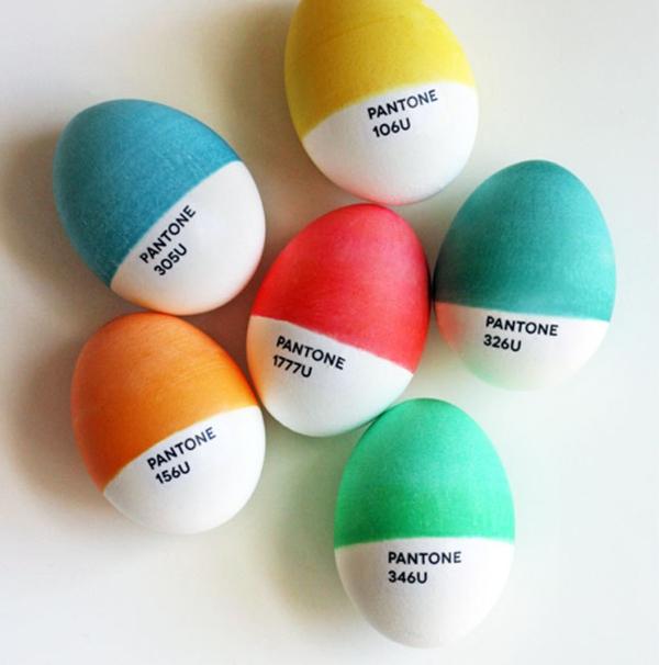 ostereier bemalen pantone eier bunt