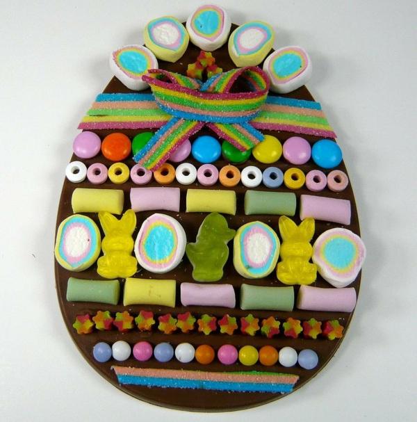 ostern kuchen backen eiform gummi bonbons