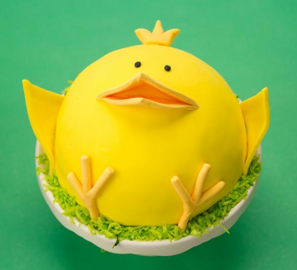 osterkuchen backen küken gelb