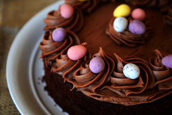 osterkuchen backen schokoladenkuchen wachteleier bunt