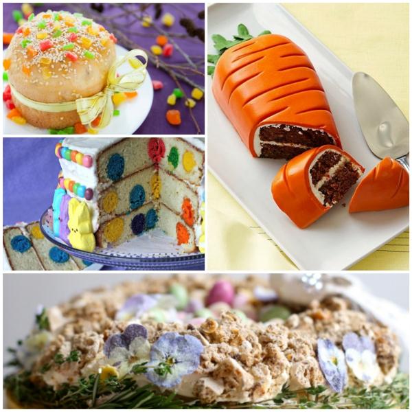 osterkuchen backen collage bunte farben lecker