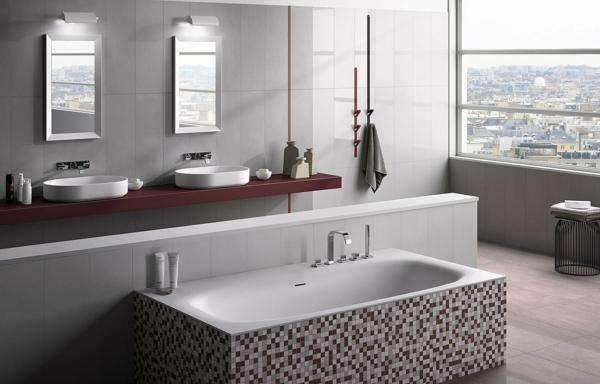 over silver badezimmer fliesen waschbecken