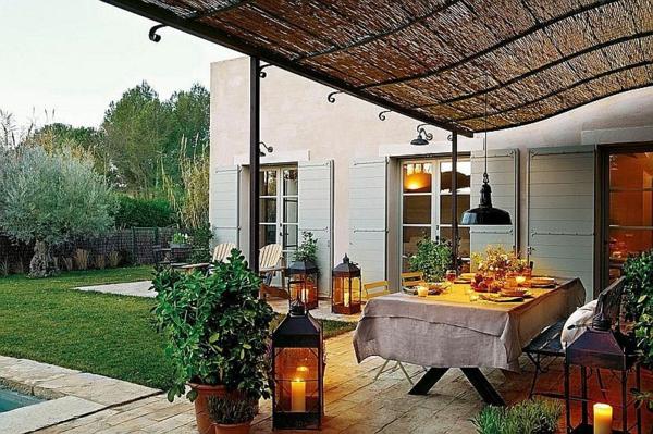 provence überdachte terrasse esstisch