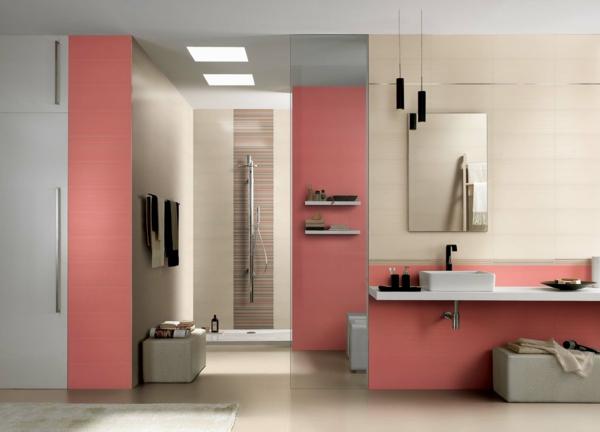 rosa pastellfarben bad fliesen