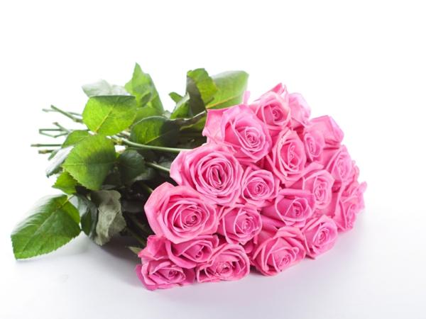 rosen bedeutung rosa farbe blumenstrauß
