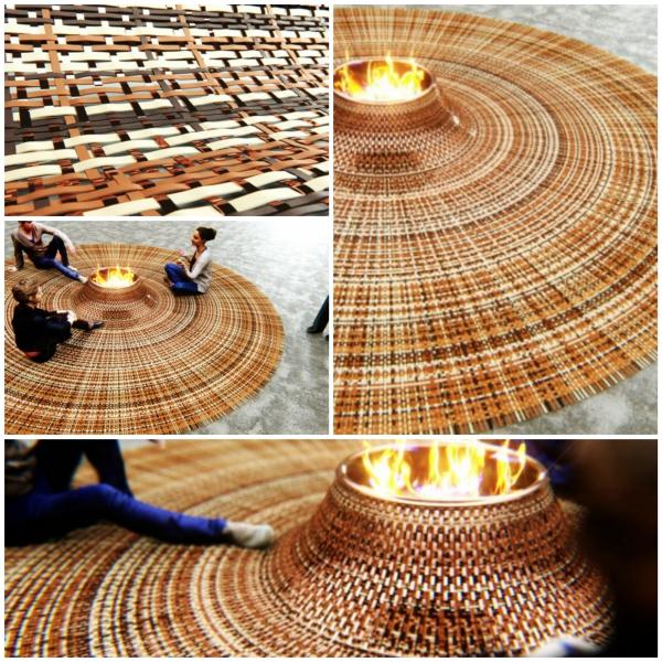 runder teppich collage