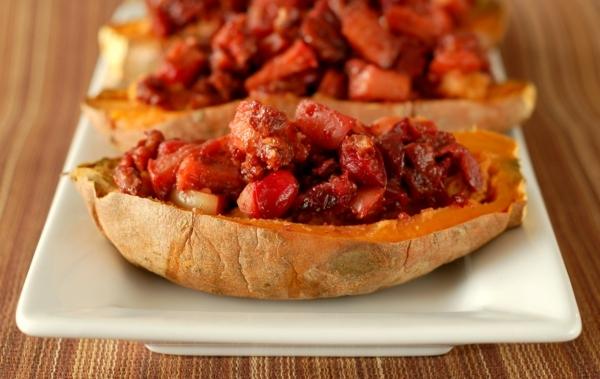 kartoffel gefüllt cranberries gebacken