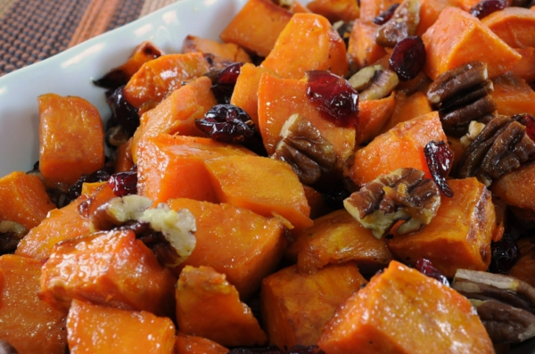 kartoffel kandiert walnüsse rosinen