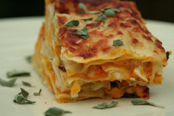süßkartoffel lasagne salbei