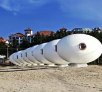 Die Urlaubsreise in coolen Strandhütten verbringen
