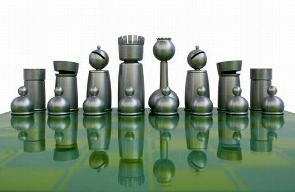 schach figuren aluminium carbon