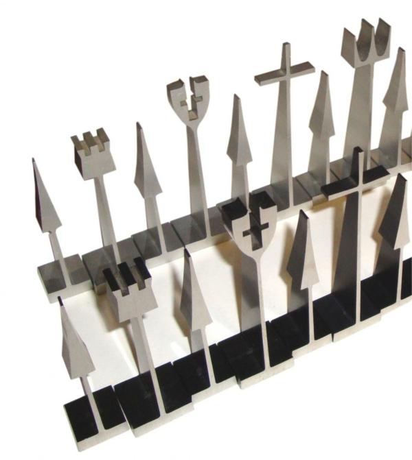schach figuren aluminium metallene alcoa austin cox