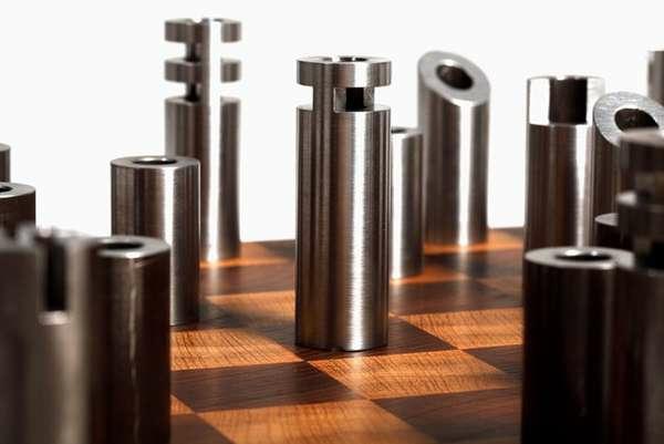 schach figuren metall zylinder bolzen