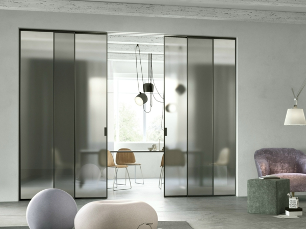 schiebetür glas moderne innentüren innendesign ideen