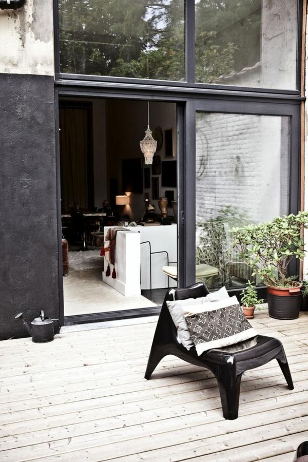 schiebetür glas patio schöne wohnideen