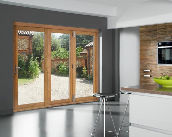 Schiebetür küche holz  Glasschiebetüren - moderne, funktionale und elegante Türen