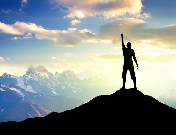 selbstmotivation gipfel berge klettern