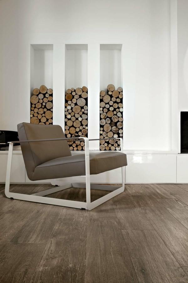 selection oak sessel metall rahmen holzoptik brennholz