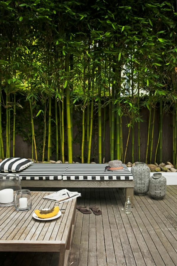 gartenzaun bambus