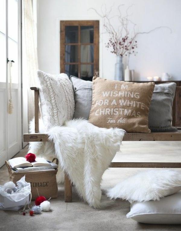 skandinavisch einrichten fellauflagen skandinavische wohnaccessoires dekokissen