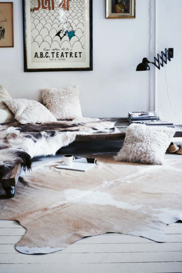 Awesome Kuhfell Teppich Wohnzimmer Photos