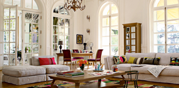 sofakissen elegant frisch farbig weiße sofas