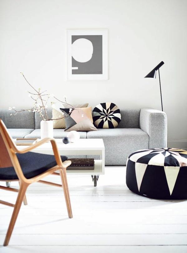 sofakissen elegant stilvoll couchtisch räder runder hocker tischdeko