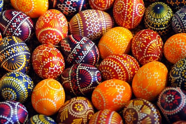 sorbische ostereier geleerte eier rankenmuster