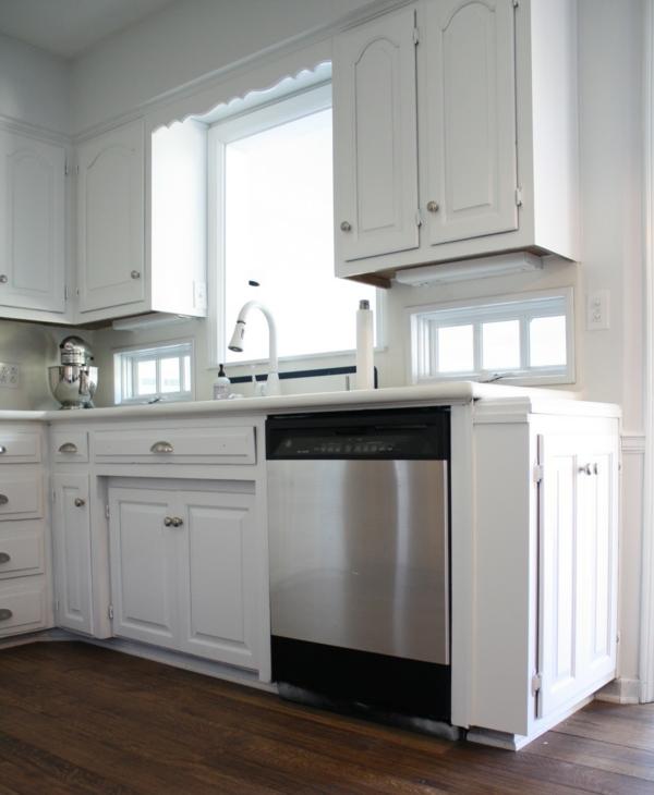 spülmaschinen edelstahl weiße küchenschränke armatur