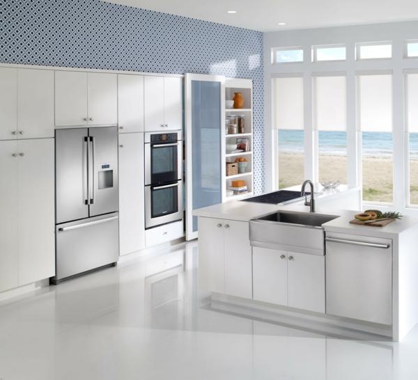 spülmaschinen eingebaut kücheninsel spüle