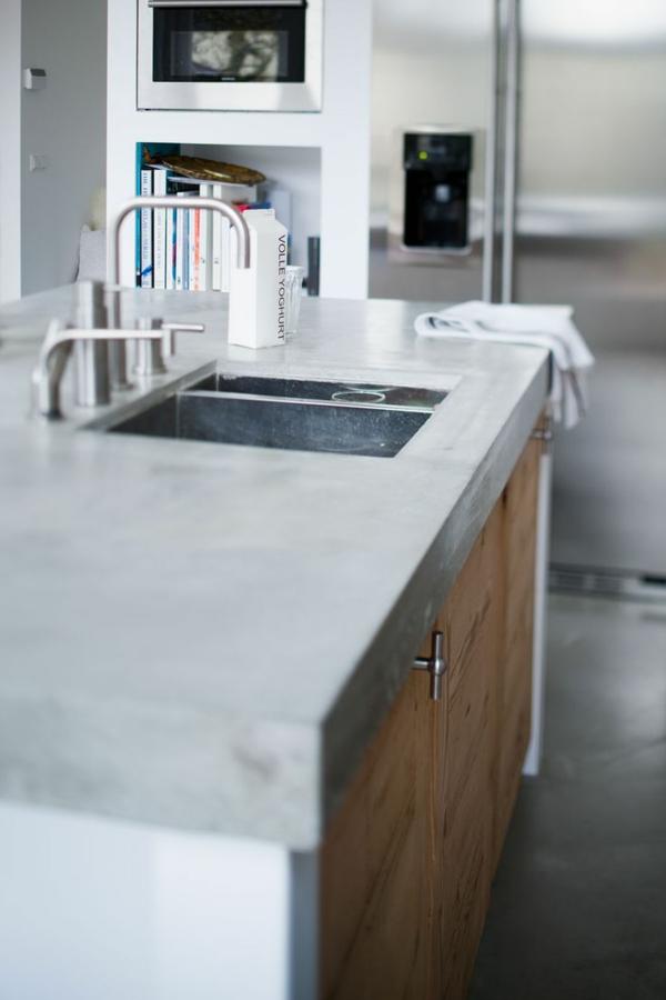 spültischarmatur wasserhahn frostsicher wasserhahnarmatur arbeitsplatte beton