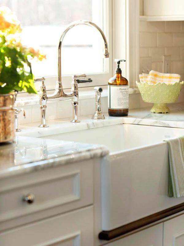 spültischarmatur wasserhahnarmatur geschwungen küche einrichten