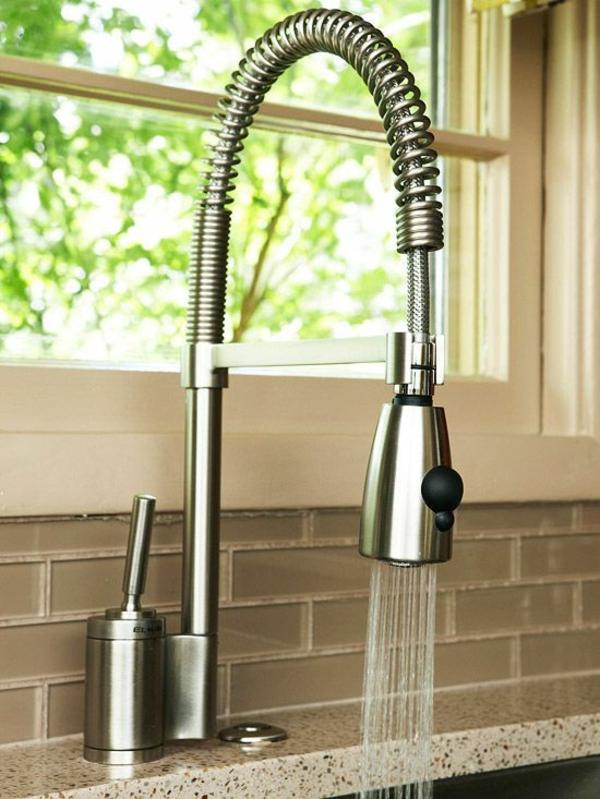 spültischarmatur wasserhahnarmatur küche einrichten