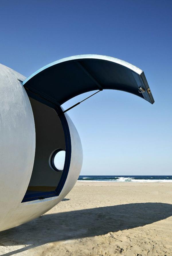 strand hütte moderne architektur tür