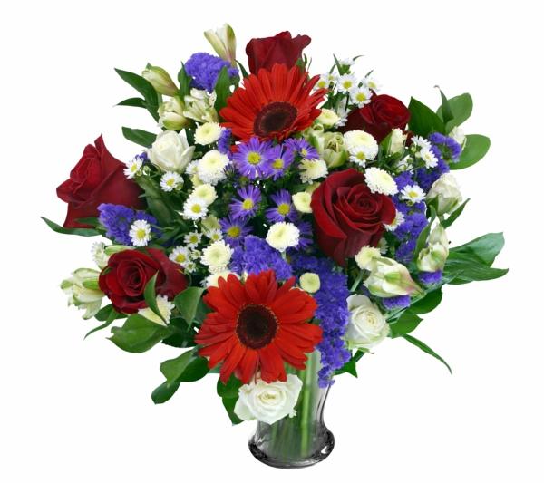 symbolik blumen blumenstrauß gläserne vase