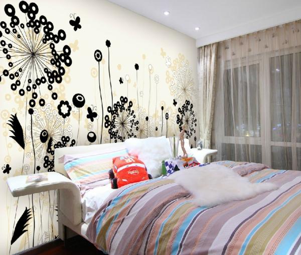 Eine Entzückende Wiese An Der Schlafzimmerwand