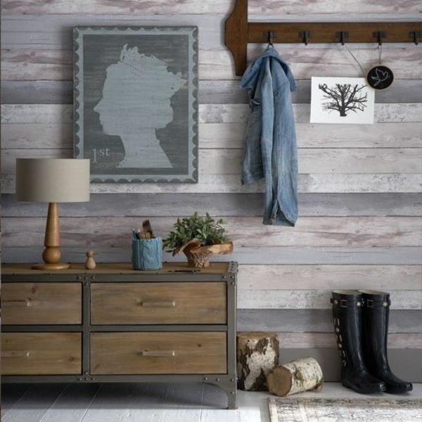 Tapete Holzoptik - Die Schönheit Des Holzes Entdecken Flur Tapeten Ideen