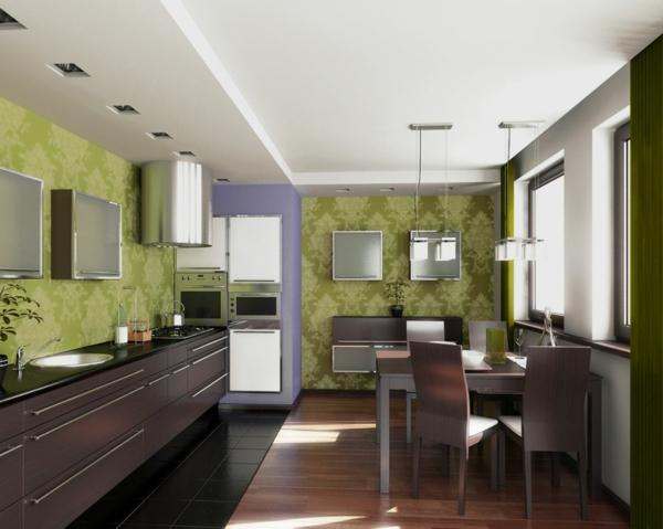 20 Kreative Ideen Für Tapeten Im Küchenbereich Pictures to pin ...