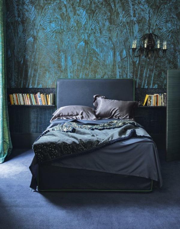 tapeten im schlafzimmer die eine dramatische atmosphäre schaffen