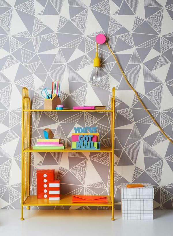 tapetenmuster schönes muster geometrische figuren wandgestaltung