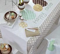 Thematische Tischläufer zu Ostern sorgen für eine festliche Tischdeko