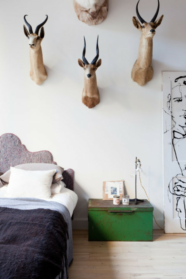 tramhäuser HJ Loft new york wandgestaltung schlafzimmer ideen
