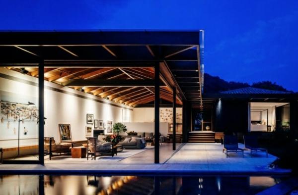 tramhäuser Jacobsen House brasilien garten pool veranda