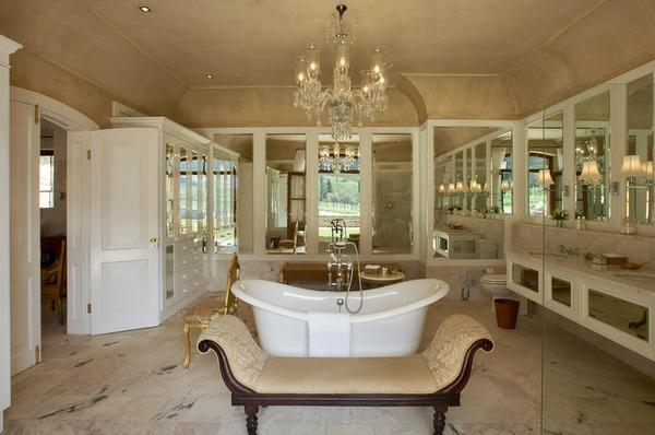 traumbäder kristallkronleuchter spiegel luxus liege