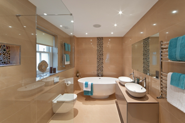 traumbäder runde badewanne einbauleuchten