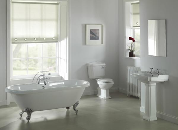 traumbad weiße badewanne krallenfuß