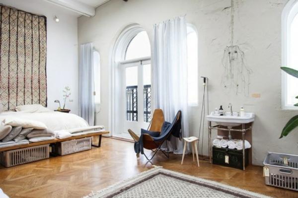 traumhäuser Amsterdam Loft schlafzimmer ideen